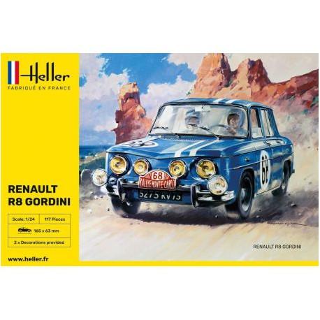 MAQUETTE HELLER - RENAULT R8 GORDINI - ECH 1/24 - REF 80700
