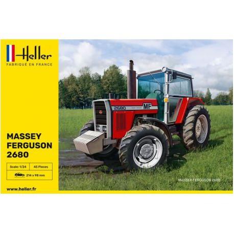 Maquette - HELLER - TRACTEUR MASSEY FERGUSSON 2680 - REF 81402 - Echelle 1/24