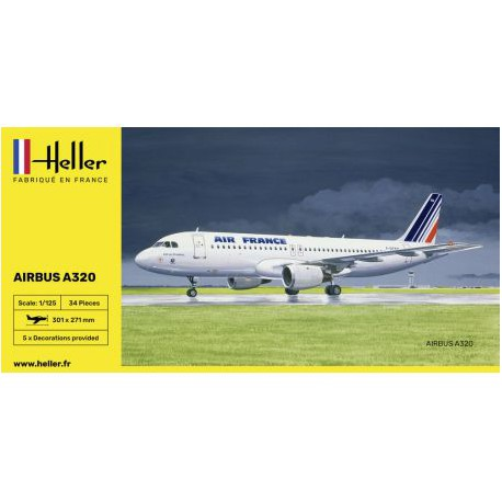 HELLER-AIRBUS-320-AF-HELL80448-ECH1/125
