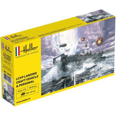 HELLER-LCVP-LANDING-CRAFT-HELL79995-ECH1/72