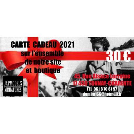 CARTE CADEAU JAPMODELS - 30 EURO - VALABLE SUR LE SITE
