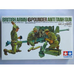 TAMIYA - BRITISH ARMY 6 POUNDER ANTI-TANK GUN - TAM35005 - Echelle 1/35