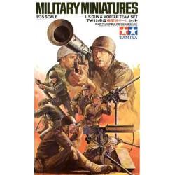 TAMIYA - MILITARY MINIATURES (U.S.GUN & MORTAR TEAM SET)- TAM35086 - Echelle 1/35