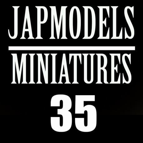 MAQUETTE DECALS - PACK 18 IMMAT - 1 BATTERIE - 1/3 RAC - ECH 1/35 SEPT 21