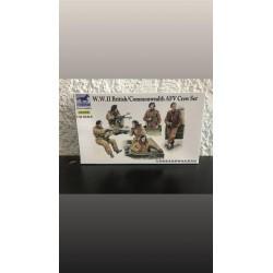 MAQUETTE BRONCO MODELS - FIGURINES - WWII BRITISH / COMMONWEALTH AFV CREW SET - REF CB35098 - 1/35