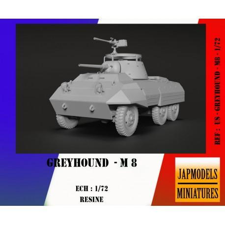 MAQUETTE JAPMODELS- GREYHOUND M 8 - REF JAP US GREYHOUND M8 - ECH 1/72