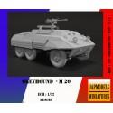 MAQUETTE JAPMODELS- GREYHOUND M 20 - REF JAP US GREYHOUND M20 - ECH 1/72