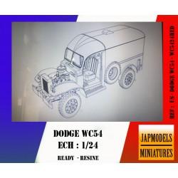 MAQUETTE JAPMODELS - DODGE WC 54 READY MONTER PEINT - REF WC54 24RED - ECH 1/24