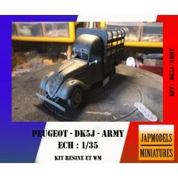 MAQUETTE JAPMODELS - PEUGEOT DK5J - FRENCJ ARMY - REF JAP DK5J ARMY - ECH 1/35