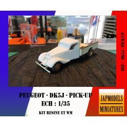 MAQUETTE JAPMODELS - PEUGEOT DK5J - PICK-UP CIVILE - REF JAP DK5J PICK-UP - ECH 1/35