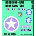 decals 2 db 1/35 DODGE 6X6 RMT - III Bat Du RMT