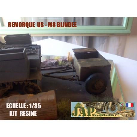 MAQUETTE JAMODELS REMORQUE M8 BLINDEE US - 1/35