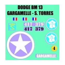 decals 1/72 Dodge Gargamelle - S. TORRES