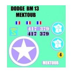 decals 1/72 Dodge - Mektoub