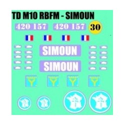 decals 1/72 TDM10 - SIMOUN
