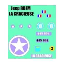 decals 1/72 JEEP - LA GRACIEUSE