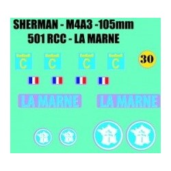 decals 1/72 SHERMAN - LA MARNE