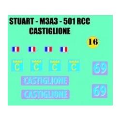 decals 1/72 STUART - CASTIGLIONE