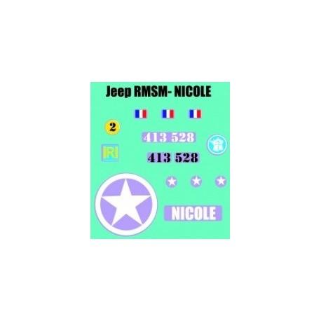 decals 1/72 JEEP - NICOLE