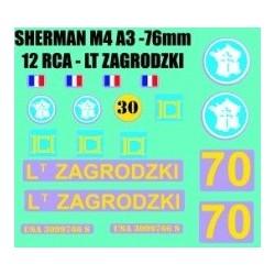 decals 1/72 SHERMAN - LT ZAGRODZKI