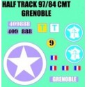 decals 1/72 HALF TRACK - GRENOBLE