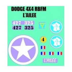 decals 1/72 DODGE - L'AILEE