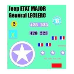 decals 1/72 JEEP - GENERAL LECLERC
