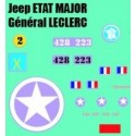 decals 1/72 JEEP - GENERAL LECLER