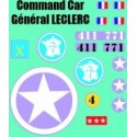 decals 1/72 COMMAND CAR - GENERAL LECLER