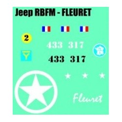 decals 1/72 JEEP - LE FLEURET