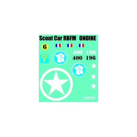 decals 1/72 SCOUT CAR - ONDINE