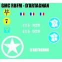 decals 1/72 GMC - D'ARTAGNAN