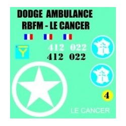 decals 1/72 DODGE AMBULANCE - LE CANCER