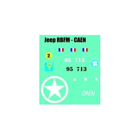 decals 1/72 JEEP - CAEN