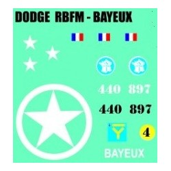 decals 1/72 DODGE - BAYEUX