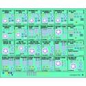PLANCHE DECALS NOEL 1/35 - 25 immatriculations