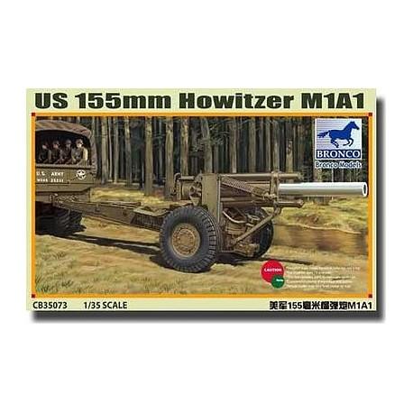 MAQUETTE US 155mm Howitzer M1A1 - BRONCO - 1/35