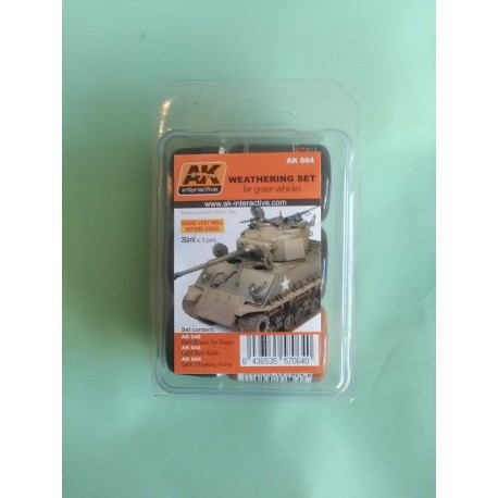 WEATHERING SET GREEN VEHICULE - AK 064 - VEILLISSEMENT AK