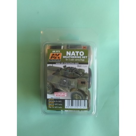 NATO - WEATHERING SET - AK 073 - PEINTURE - JUS AK INTERACTIVE