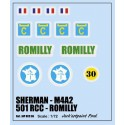 decals 1/72 SHERMAN - ROMILLY
