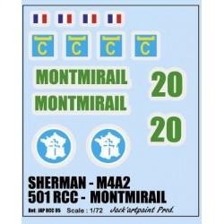 decals 1/72 SHERMAN - MONTMIRAIL