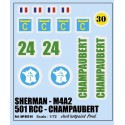 decals 1/72 SHERMAN - CHAMBAUPERT
