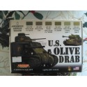 PEINTURE LIFECOLOR - US OLIVE DRAB - CS11 - MAQUETTE