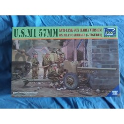 MAQUETTE US M1 - RIICH - 57MM ANTI -TANK GUN EARLY - 1/35