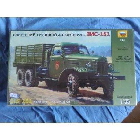 MAQUETTE TRUCK 6X6 -SOVIET ZIS-151 - ZVEZDA - ECH 1/35