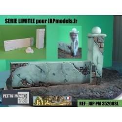 MAQUETTE- DIORAMA - MUR DE CLOTURE - JAPMODELS - 1/35 - BRONCO - ZVEZDA
