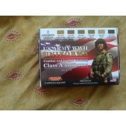 PEINTURE LIFECOLOR - US ARMY WWII - UNIFORMES SET 1 - FIGURINES