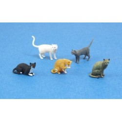 MAQUETTE/ FIGURINE - CHATS - CATS - ECH 1/35 DIORAMA