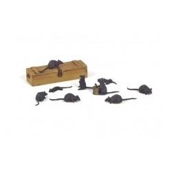 MAQUETTE / FIGURINE - RATS - ECH 1/35 DIORAMA