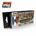 MAQUETTE SET PEINTURE MIG 77110 -FRENCH TANKS COLORS 1914 A 1940